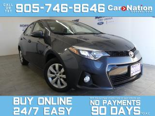 Used 2016 Toyota Corolla S | LEATHER  | HEATED SEATS | NAVIGATION for sale in Brantford, ON