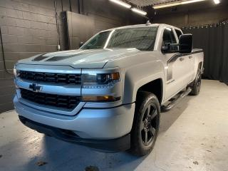 Used 2018 Chevrolet Silverado 1500 Silverado Custom Clean CarFax! Bed Liner! Tonneau Cover! Tow Package! for sale in Kingston, ON
