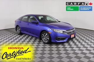 Used 2018 Honda Civic 1 OWNER - NO ACCIDENTS | SUNROOF | HEATED SEATS | ADAPTIVE CRUISE | LANE-KEEPING for sale in Huntsville, ON