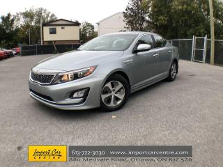 Used 2016 Kia Optima Hybrid LX SUPER LOW KMS  SIPS FUEL  ALLOYS  HTD SEATS  BA for sale in Ottawa, ON