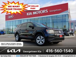 Used 2018 Volkswagen Atlas TRENDLINE   7 PASS   46K   HTD SEATS   BU CAM  B/T for sale in Georgetown, ON