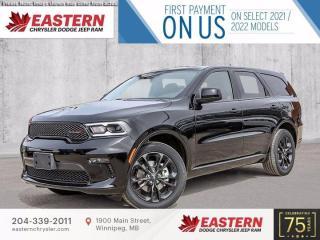 New 2021 Dodge Durango SXT | Backup Camera | Heated Front Seats | for sale in Winnipeg, MB