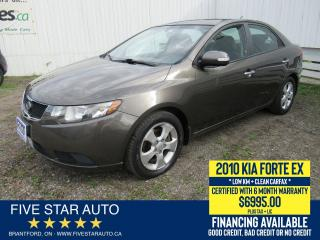 Used 2010 Kia Forte EX *Clean Carfax* Certified w/ 6 Month Warranty for sale in Brantford, ON