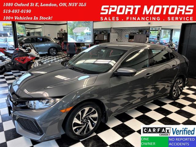 2017 Honda Civic LX Hatchback Turbo+ApplePlay+Cruise+CLEAN CARFAX