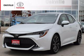 Used 2021 Toyota Corolla Hatchback XSE Toyota Certified with Navigation for sale in Oakville, ON