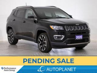 Used 2020 Jeep Compass Limited 4x4, UConnect 4C Navi Grp, Apple CarPlay! for sale in Clarington, ON