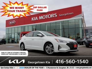 Used 2019 Hyundai Elantra PREFERRED | BU CAM | HTD SEATS | 49K | BT | ALLOYS for sale in Georgetown, ON