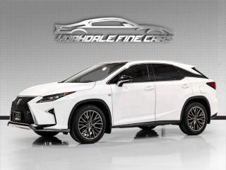 Used 2017 Lexus RX 350 F Sport 3 Navi, Heads Up Display, Red Interior, Loaded! for sale in Concord, ON