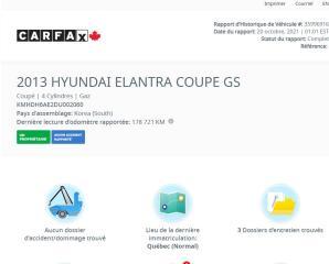 Used 2013 Hyundai Elantra Coupe SE /  MAGS + TOIT OUVRANT + A/C for sale in Saint-Jean-sur-Richelieu, QC