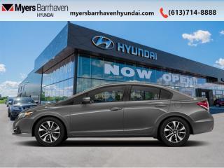 Used 2014 Honda Civic Sedan EX  - Sunroof -  Bluetooth for sale in Nepean, ON