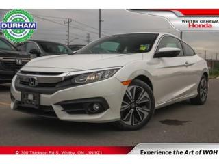 Used 2018 Honda Civic EX-T Manual Coupe Apple Carplay/Android Auto for sale in Whitby, ON
