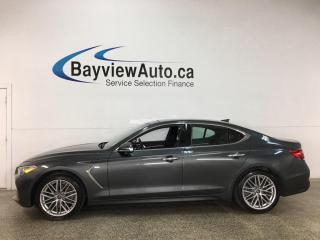 Used 2020 Genesis G70 2.0T Advanced - AWD! SUNROOF! HEATED LEATHER! NAV! + MUCH MORE! for sale in Belleville, ON