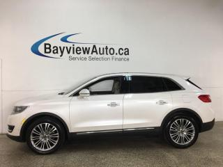 Used 2017 Lincoln MKX Reserve - AWD! NAV! HEATED LEATHER! PANOROOF! for sale in Belleville, ON