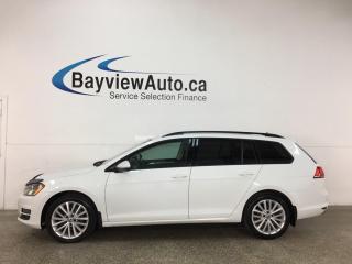 Used 2015 Volkswagen Golf Sportwagon 2.0 TDI Comfortline - DIESEL! PANOROOF! REVERSE CAM! HEATED LEATHER! + MORE! for sale in Belleville, ON