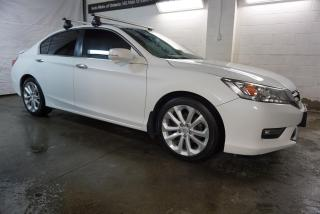 Used 2015 Honda Accord TOURING 6-SP SIDE CAMERAS CERTIFIED HEATED LEATHER NAV BLUETOOTH SUNROOF LEATHER for sale in Milton, ON