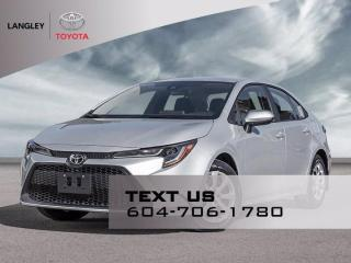 New 2022 Toyota Corolla LE for sale in Langley, BC
