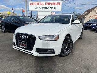 Used 2015 Audi A4 2.0T QUATTRO AWD S-LINE Prl white Alloys/Leather/Sunroof for sale in Mississauga, ON