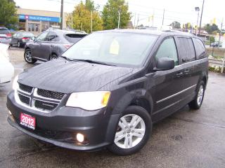 Used 2012 Dodge Grand Caravan CREW,DVD,CERTIFIED,TINTED,BLUETOOTH,BACK UP CAMERA for sale in Kitchener, ON