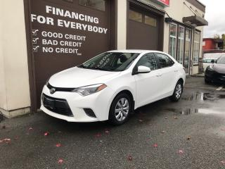 Used 2016 Toyota Corolla LE for sale in Abbotsford, BC