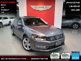 Used 2014 Volkswagen Passat TDI/ACCIDENT FREE/ FINANCE/CERTIFIED for sale in Oakville, ON