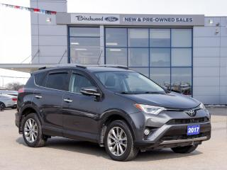 Used 2017 Toyota RAV4 Limited | Locally Owned & Serviced | Sunroof | Navigation | Heated Steering | Toyota Safety Sense | for sale in Winnipeg, MB