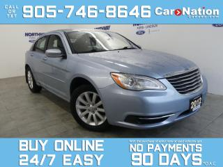 Used 2012 Chrysler 200 LX | BLUETOOTH | WOW ONLY 39 KM! | OPEN SUNDAYS! for sale in Brantford, ON