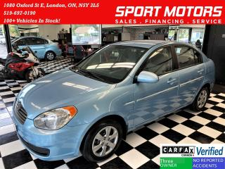 Used 2009 Hyundai Accent GL+New Tires+Power Options+A/C+ACCIDENT FREE for sale in London, ON