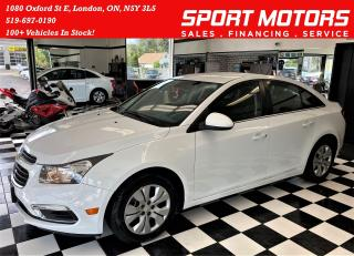 Used 2015 Chevrolet Cruze LT+Remote Start+New Tires+Brakes+Camera+Bluetooth for sale in London, ON