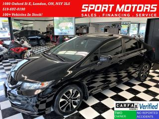 Used 2015 Honda Civic EX+Camera+New Tires & Brakes+Roof+CLEAN CARFAX for sale in London, ON