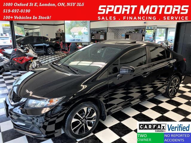 2015 Honda Civic EX+Camera+New Tires & Brakes+Roof+CLEAN CARFAX