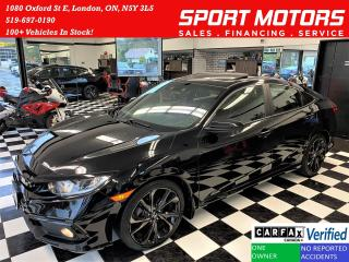Used 2019 Honda Civic Sport+Lane Keep+Camera+Roof+CLEAN CARFAX for sale in London, ON