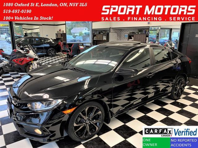 2019 Honda Civic Sport+Lane Keep+Camera+Roof+CLEAN CARFAX