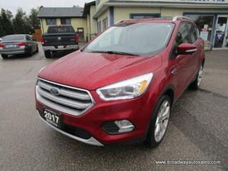 Used 2017 Ford Escape FOUR-WHEEL DRIVE TITANIUM-MODEL 5 PASSENGER 2.0L - ECO-BOOST.. NAVIGATION.. LEATHER.. HEATED SEATS & WHEEL.. PANORAMIC SUNROOF.. BACK-UP CAMERA.. for sale in Bradford, ON