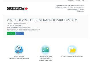 Used 2020 Chevrolet Silverado 1500 Custom for sale in Saint-Jean-sur-Richelieu, QC