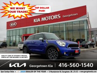 Used 2014 MINI Cooper Paceman S | DUAL SUNROOFS | LTHR | NAV | HTD SEATS | B/T | for sale in Georgetown, ON