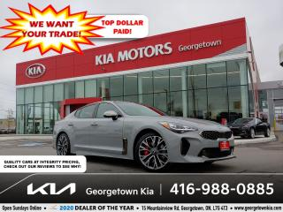 Used 2019 Kia Stinger GT Limited | 1 OWNR | CLN CRFX | NAV | SUNROOF|36K for sale in Georgetown, ON