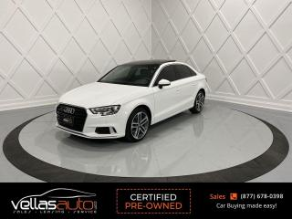 Used 2018 Audi A3 2.0T Progressiv QUATTRO| PANORAMIC RF| NAVIGATION for sale in Vaughan, ON