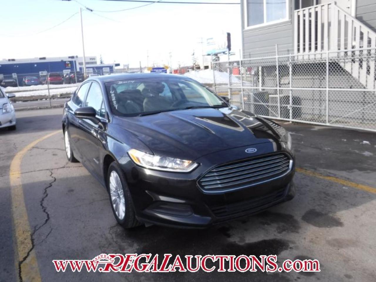 Photo of Black 2014 Ford FUSION S HYBRID 4D SEDAN