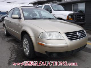 Used 2001 Volkswagen NEW PASSAT GLS 4D SEDAN for sale in Calgary, AB