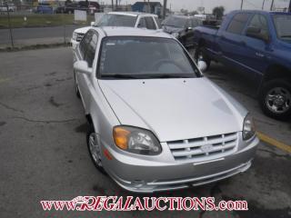 Used 2003 Hyundai Accent GL 4D Sedan for sale in Calgary, AB
