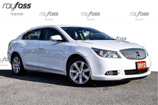 Used 2012 Buick LaCrosse Leather HUD Driver Conf. Pkg for sale in Thornhill, ON