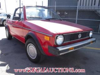 Used 1987 Volkswagen RABBIT  CONVERTIBLE for sale in Calgary, AB