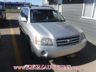 Used 2002 Toyota HIGHLANDER  4D UTILITY 4WD for sale in Calgary, AB