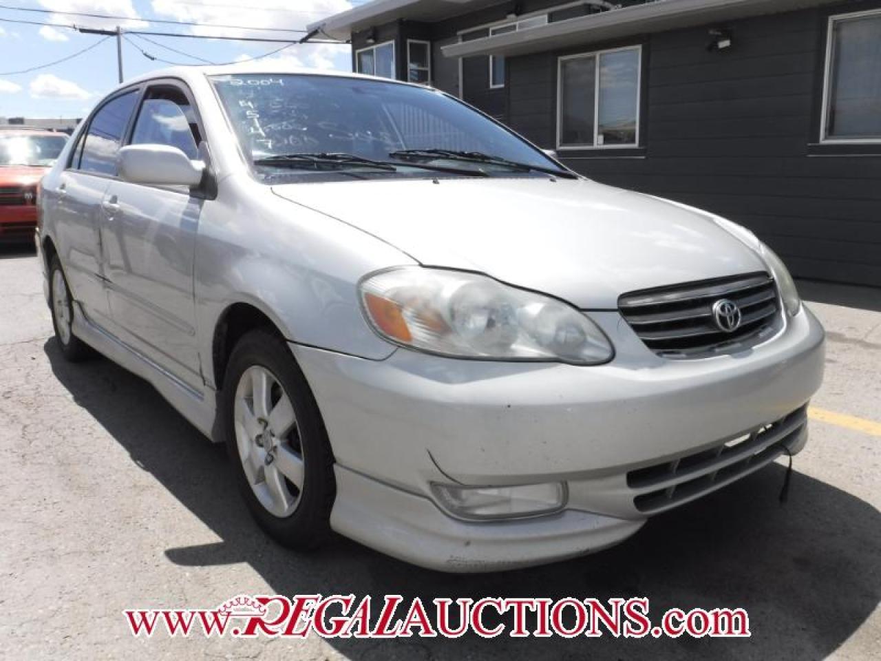 Photo of Silver 2004 Toyota COROLLA S 4D SEDAN