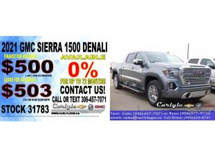 New 2021 GMC Sierra 1500 Denali for sale in Carlyle, SK