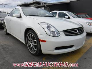 Used 2007 Infiniti G35 Base 2D Coupe for sale in Calgary, AB