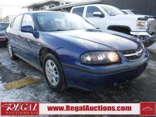 Used 2004 Chevrolet Impala Base 4D Sedan for sale in Calgary, AB
