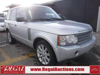 Used 2006 Land Rover Range Rover Supercharged 4D Utility 4WD for sale in Calgary, AB