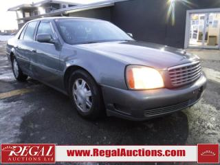 Used 2003 Cadillac DeVille 4D Sedan for sale in Calgary, AB