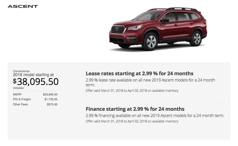Subaru Special Deal
